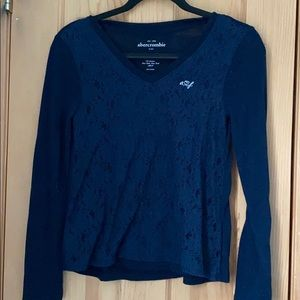 Abercrombie kids long sleeve with lace detail